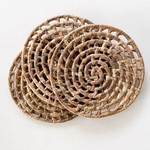 Vintage Boho Woven Circle Trivets (Set of 3)
